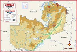 map of zambia zambia physical wall map mapstudio