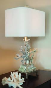 silver coral table lamp design by couture lamps u2013 burke decor