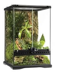 amazon com exo terra glass terrarium 12 by 12 by 18 inch pet