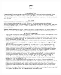 resume objective for management position international business resume objective best account manager