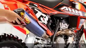 fmf power tip how to remove stock ktm header youtube