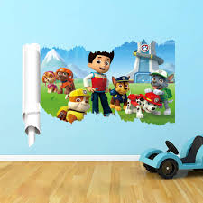 paw patrol wall decals wall stickers boys room girls room wall decal stickers