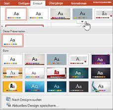 powerpoint design zuweisen ändern oder entfernen eines designs in office für mac office support