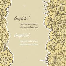 mehndi invitation cards ornate vector card template in indian mehndi style