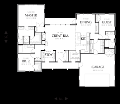 Craftsman Ranch Floor Plans Mascord House Plan 1170 The Meriwether