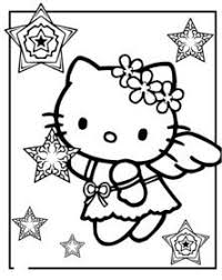 kitty ice skating kitty coloring pages