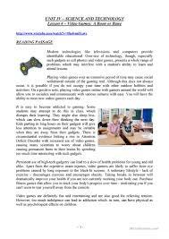 video games a boon or bane worksheet free esl printable