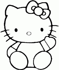 hello kitty coloring pages to color online free coloring pages