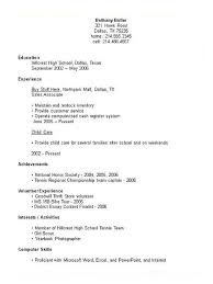 high school resumes exles of high school student high school student resume