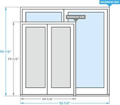 Sliding Patio Door Dimensions Pella Foot Bolt On Sliding Patio Doors Pella Patio Doors