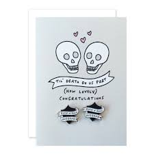 congrats engagement card rock n roll wedding enamel pin badge card dearly