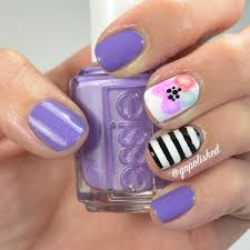 nail tutorial sharpie flower with stripes youtube