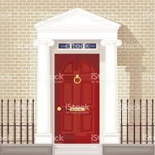 Front Door House Expensive House With A Red Front Door Stock Vector Art 158264959