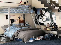Teen Bedroom Ideas With Bunk Beds Impressive Shared Boys Bedroom Design With One Loft Bed And Blue