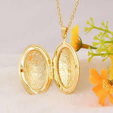 necklace gold man images Photo locket pendant copper necklace oval couple 18k gold plated jpg