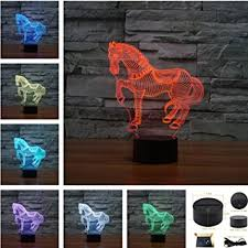 3d Lamps Amazon Amazon Com Horse 3d Touch Table Desk Lamps Tony 7 Color Changing