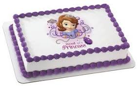 sofia the cake topper sofia the sweet as a princess edible icing image 1 4 sheet