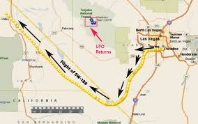 Las Vegas Map 2015 by Airline Pilot U0026 Co Pilot See Strange Light To East While Inflight