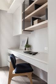 adore this sophisticated study nook with custom made storage