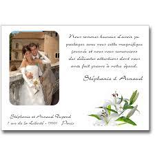 faire part de remerciement mariage remerciement mariage lys lutin faire part