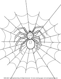 halloween spider coloring pages kids coloring