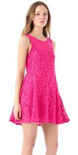 free people miles of lace tank dress stylist pick in pink lyst