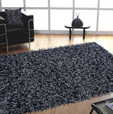 Modern Shaggy Rugs Furniture Awesome Modern Shaggy Black And Gray Area Rugs