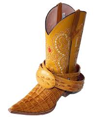 amazon com cowboy boot u0027s leather crocodile back cut cowboy