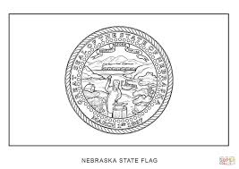 flag of nebraska coloring page free printable coloring pages