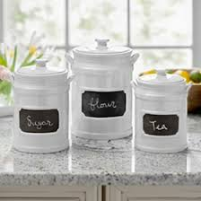 3 kitchen canister set white chalkboard kitchen canisters set of 3 kitchen and dining