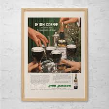 martini and rossi poster vintage jameson ad retro irish whiskey ad bar poster
