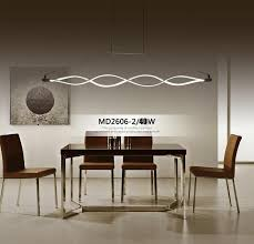 modern hanging lights for dining room 120cm new creative modern led pendant lights wave hanging l