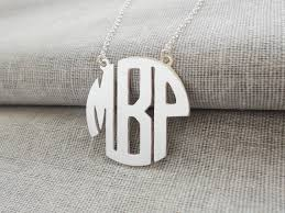 Monogrammed Necklace Sterling Silver Monogram Block Necklace Sterling Silver Monogram Necklace 3