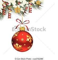 clip vector of single ornament single hanging