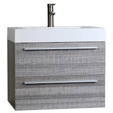 buy 26 75 inch single bathroom vanity set in ash grey tn t690 ash