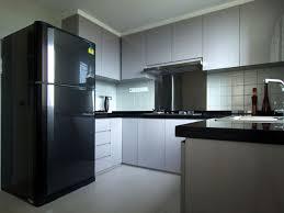 modern kitchen luxurious white black wood stainless luxury
