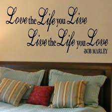 popular bob marley bedroom buy cheap bob marley bedroom lots from large bedroom quote bob marley love life live wall art sticker decal matt vinyl wall art