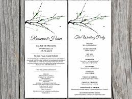 winter wedding programs winter wedding program microsoft word template diy moss green