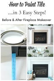 How To Reface A Fireplace by Reface Fireplace With Tile How To Paint Tile In 3 Easy Steps No
