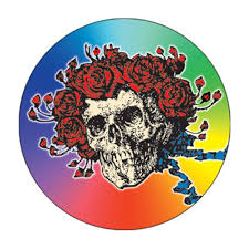 the grateful dead skull and roses rainbow 1 5 inch button