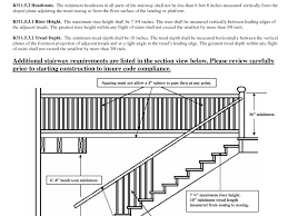 Landing Handrail Height Stairs Design Contemporary Stair Rail Height Residential Stair