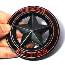 texas jeep stickers online shop 3d metal texas edition shield pentagram emblem badge