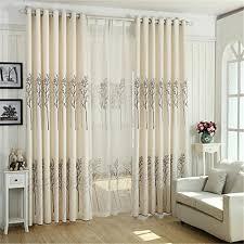 Grommet Top Blackout Curtains Ferand Cotten Linen Plant Pattern Blackout Curtains Drapes