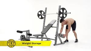 gold u0027s gym xr 10 1 olympic weight bench youtube