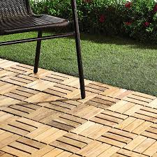 amazon com quick connect teak interlocking flooring tiles