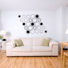 Wall Quotes For Living Room by Geometric Hex Wall Decal Sticker
