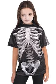 Halloween T Shirts For Girls Christys Dress Up Childs Black And Bone Skeleton T Shirt Kids