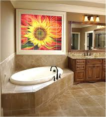 Painting Bathroom Tile by Look For Painting Bathroom Tile For Your Home Sunflower Glass Tile