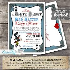 mad hatters tea party invitation ideas mad hatter baby shower invitation instant download
