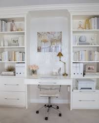 Lucite Office Desk Home Decorating Ideas Home Office In Chic Glam Style Built In